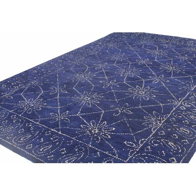 Prescot Hand-Tufted Wool Navy Area Rug