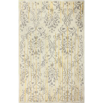 Flori Hand-Tufted Silver Area Rug Rug Size: 8 x 10