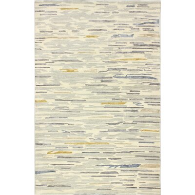 Galle Hand-Tufted Silver Area Rug Rug Size: 4 x 6