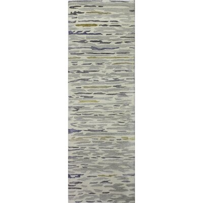 Galle Hand-Tufted Silver Area Rug Rug Size: Runner 26 x 8