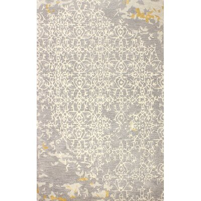 Flori Hand-Tufted Gray Area Rug Rug Size: 6 x 9