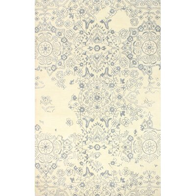 Flori Hand-Tufted Ivory Area Rug Rug Size: 9 x 12