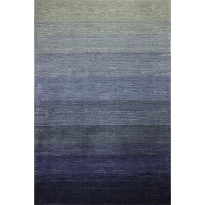 Arndt Hand-Woven Slate Gray/Blue Area Rug Rug Size: 9 x 12
