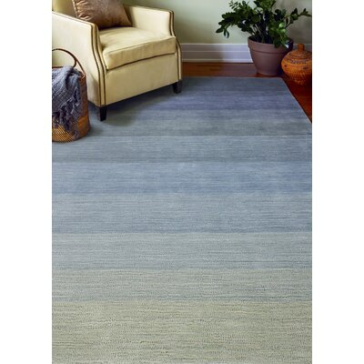 Arndt Hand-Woven Slate Gray/Blue Area Rug Rug Size: 4 x 6
