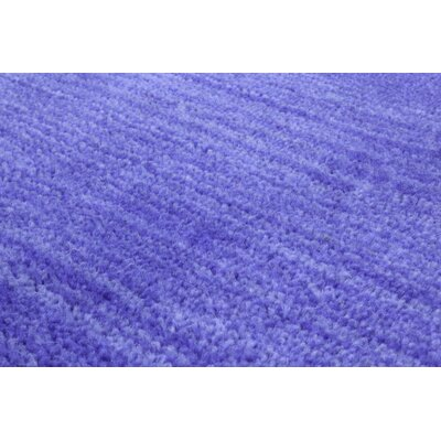 Stokes Hand-Woven Wool Cobalt Blue Area Rug Rug Size: 4 x 6