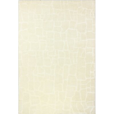 Jared Hand-Tufted Snow Area Rug Rug Size: 5 x 8