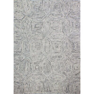 Stasia Hand Tufted Wool Gray Area Rug Rug Size: 76 x 96