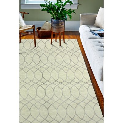 Kelson Hand Tufted Wool Beige Area Rug Rug Size: 39 x 59
