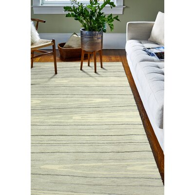 Kelson Hand Tufted Wool Ivory Area Rug Rug Size: 39 x 59