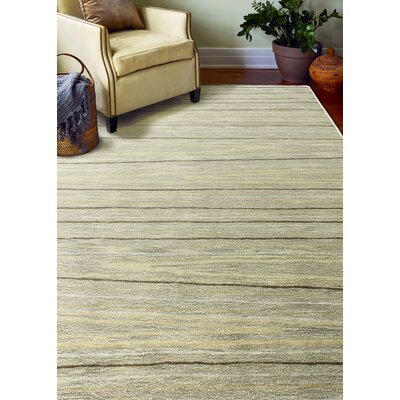 Kelson Hand Tufted Wool Taupe Area Rug Rug Size: 79 x 99