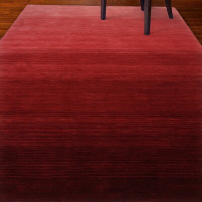 Stokes Hand-Woven Wool Red Area Rug Rug Size: 4 x 6