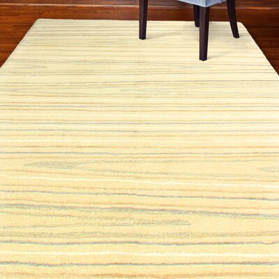 Kelson Hand-Tufted Ivory Area Rug Rug Size: 4 x 6