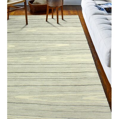 Kelson Hand Tufted Wool Ivory Area Rug Rug Size: 79 x 99