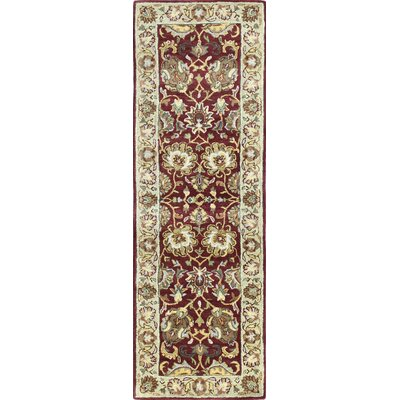 Essex Red Area Rug Rug Size: Runner 26 x 8