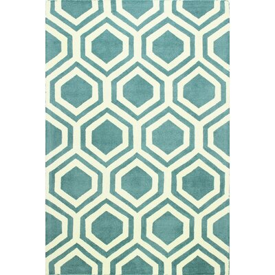 Rocco Wool Blue Area Rug Rug Size: 5 x 76