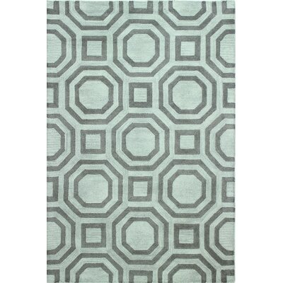 Natasha Hand Woven Wool Gray Area Rug Rug Size: Rectangle 7 x 9