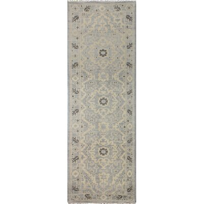 Deshmukh Hand Knotted Wool Silver Area Rug Rug Size: Runner 26 x 8