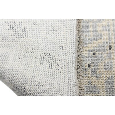 Deshmukh Hand Knotted Wool Silver Area Rug Rug Size: Rectangle 76 x 96
