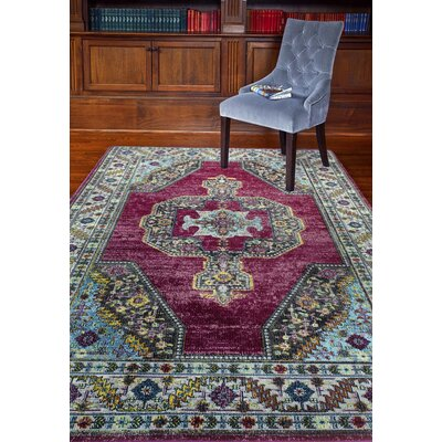 Fidela Fuchsia Area Rug Rug Size: Rectangle 36 x 56