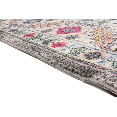 Fidela Gray Area Rug Rug Size: Rectangle 76 x 96