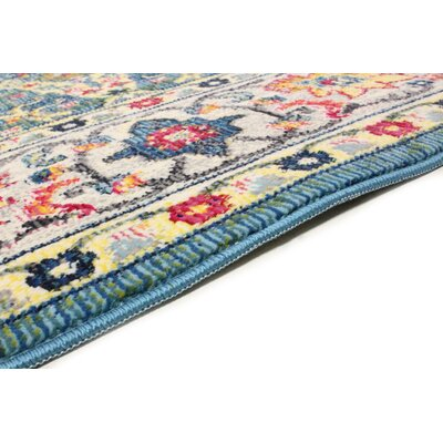 Fidela Azure Area Rug Rug Size: Rectangle 7'6