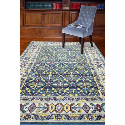 Fidela Azure Area Rug Rug Size: Rectangle 3'6