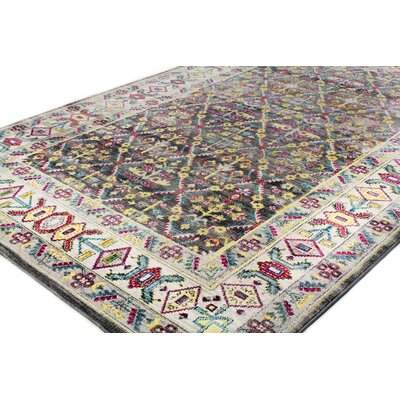 Fidela Gray Area Rug Rug Size: Rectangle 3'6