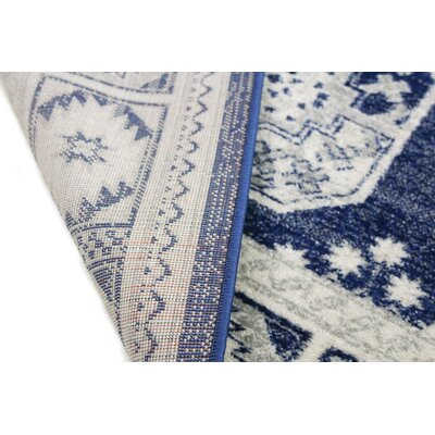 Fiora Dark Blue Area Rug Rug Size: Runner 26 x 8