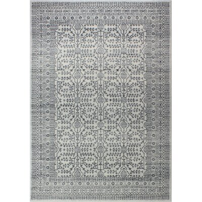 Fiora Ivory/Gray Area Rug Rug Size: Rectangle 5 x 76