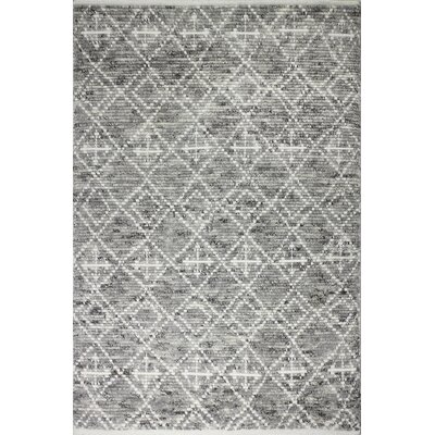 Gisselle Hand-Knotted Wool Gray Area Rug Rug Size: Rectangle 36 x 56