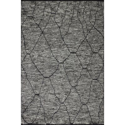 Gisselle Hand-Knotted Wool Gray Area Rug Rug Size: Rectangle 86 x 116