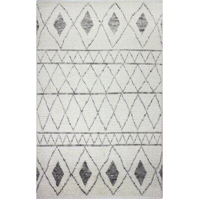 Gisselle Hand-Knotted Wool Ivory Area Rug Rug Size: Rectangle 86 x 116