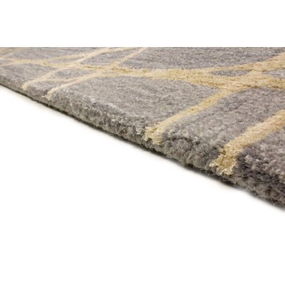 South Ferry Hand-Tufted Gray Area Rug Rug Size: Runner 26 x 8