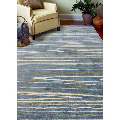 South Ferry Hand-Tufted Azure Area Rug Rug Size: Rectangle 79 x 99