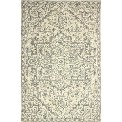 Goddard Hand-Tufted Ivory Area Rug Rug Size: Rectangle 79 x 99