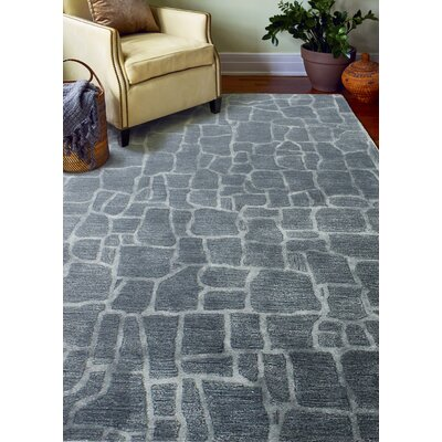 Harleigh Hand-Tufted Marine Area Rug Rug Size: Rectangle 76 x 96