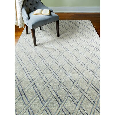 Jemarcus Hand-Tufted Silver Area Rug Rug Size: Rectangle 36 x 56