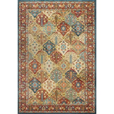 Janelle Teal Area Rug Size: Rectangle 9 x 13