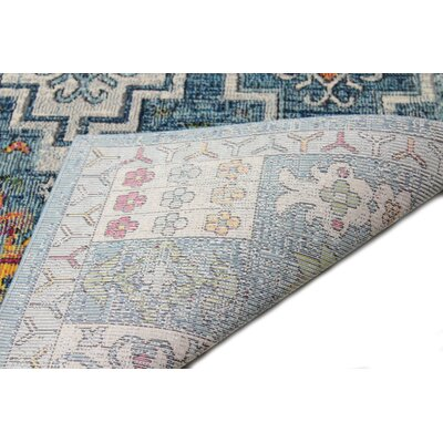 Fidela Blue Sheen Area Rug Size: Rectangle 5 x 76