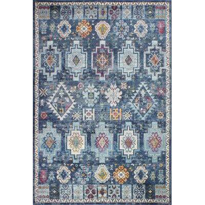 Fidela Navy Area Rug Size: Rectangle 5 x 76
