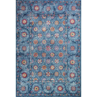 Fidela Rectangle Blue Area Rug Size: Rectangle 5 x 76