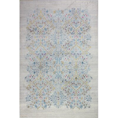 Fidela Floral Ivory Area Rug Size: Rectangle 86 x 116