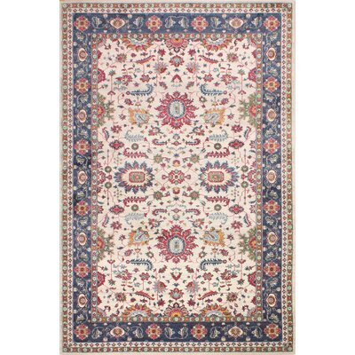 Fidela Ivory/Red Area Rug Size: Rectangle 76 x 96