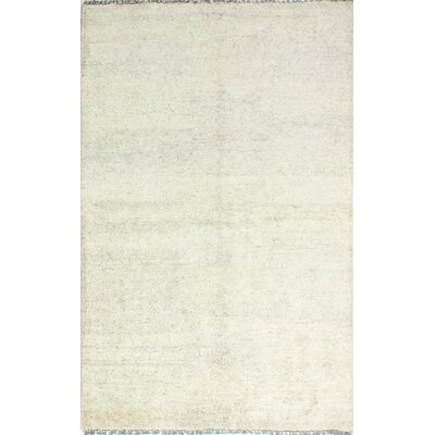 Plunkett Hand Knotted Cotton Cream Area Rug Size: Rectangle 76 x 96