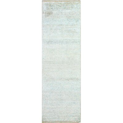 Plunkett Hand Knotted Cotton Cream Area Rug Size: Runner 26 x 8