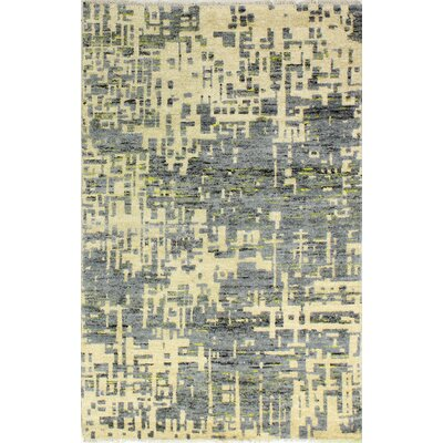 Jagtap Hand Knotted Cotton Cream/Gray Area Rug Size: Rectangle 36 x 56