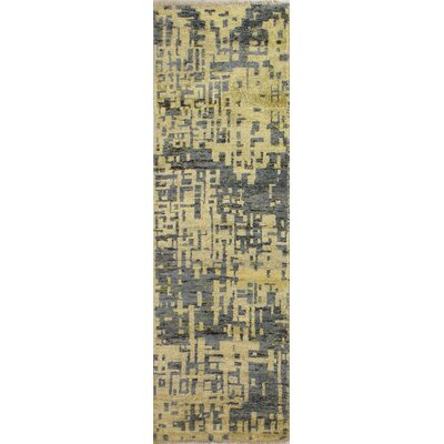 Jagtap Hand Knotted Cotton Cream/Gray Area Rug Size: Runner 26 x 8