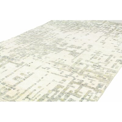 Jagtap Hand Knotted Cotton Ivory/Gray Area Rug Size: Runner 26 x 8