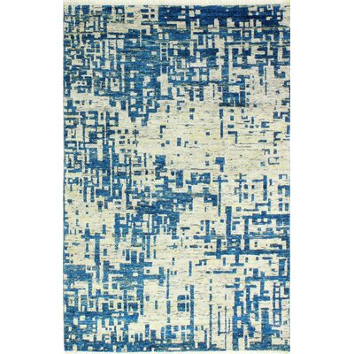 Jagtap Hand Knotted Cotton Blue/Biege Area Rug Size: Rectangle 76 x 96