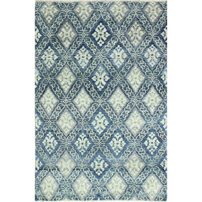 Hylan Hand Knotted Cotton Blue Area Rug Size: Rectangle 5 x 76